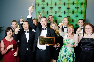 Team Inksters Celebrate winning Chairman's Award - Law Awards of Scotland 2013