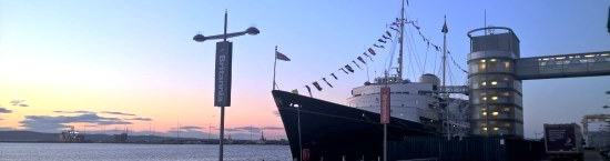 Royal Yacht Britannia - Thrive for Business - Inksters - At sunset