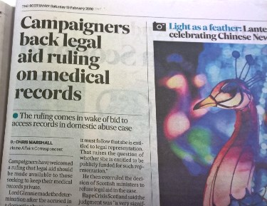 The Scotsman - Campaigners back legal aid ruling on medical records