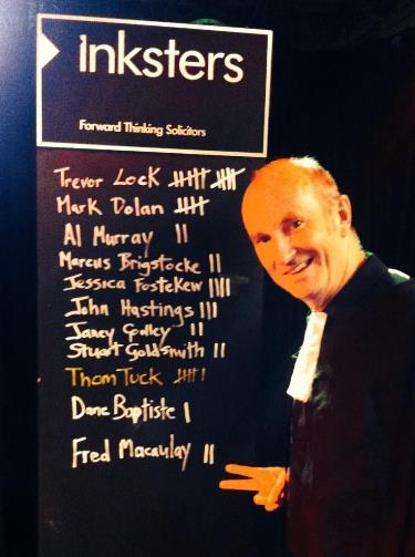 This is Your Trial - Edinburgh Fringe 2014 - Fred Macaulay - Trial Inksters Scoreboard